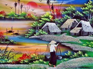 ベトナムの田園風景