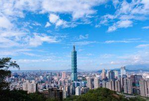 台北101を望む台北の風景