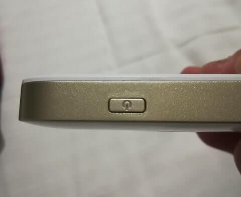 ポケットWiFiの電源ボタン